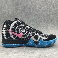 Nike Kyrie Fashion Men Personality Sport Running Basketball Shoes Sneakers Black Blue(Pink Hook) I-BAXY