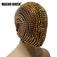Rainbow Riveted Couture Full Face Mask