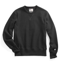 Reverse Weave Sweatshirt in Black
