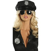 Police Cop Girl Hat Halloween Accessory