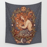 COSMIC LOVER color version Wall Tapestry by Medusa Dollmaker