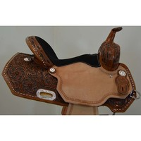 "Coolhorse New! 14"" Circle Y Saddles XP Flora Barrel Saddle"
