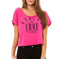 Young & Reckless Tee Roberston Cropped in Fuschia