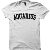 AQUARIUS T-SHIRT TEAM AQUARIUS SHIRT ZODIAC SIGN SHIRTS COOL SHIRTS HIPSTER CLOTHES GIFTS FOR TEENS BIRTHDAY GIFTS CHRISTMAS GIFTS