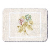 The Rug Market Kids Cheri Blum Hydrangea Beige Kids Rectangular Rug - 65002A - Cotton Rugs - Area Rugs by Material - Area Rugs