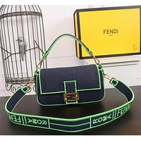Fendi Women's Tote Bag Handbag Shopping Leather Tote Crossbody Satchel