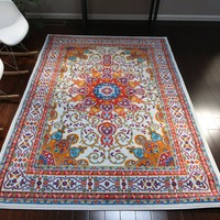 0532 White Oriental Area Rugs
