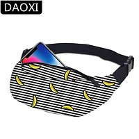 DAOXI Banana Fanny Waist Pack Waist Bag Travel Pocket with Adjustable Belt for Workout Vacation Hiking DXYB-20