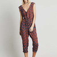 Free People Womens Geo Printed Harem One Piece