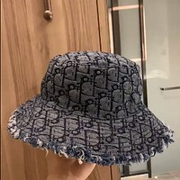 Dior embroidered jacquard full logo fisherman hat