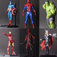 The Avengers Hulk PVC Deadpool Iron Man Action Figure Thor Model Collection Toy Gift Captain America IronMan superhero Spiderman
