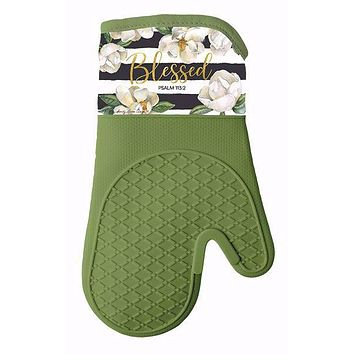 Blessed Magnolia Mitt/Pot Holder Set