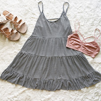 A Striped Babydoll Sundress
