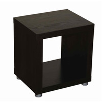 Caro - 1x1 Cube, end table, night stand, Bookshelf or Sidetable, walnur veneer color