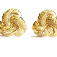 14K Yellow Gold Textured Beverly Hills Gold Post Earrings
