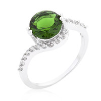 Green Swirlingengagement Ring, size : 10