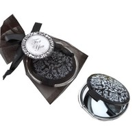 Reflections Elegant Black-and-White Mirror Compact