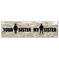 My Sister is in the Military Bumper Stickers from Zazzle.com