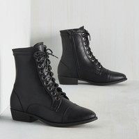 Trek Yourself Boot in Ebony | Mod Retro Vintage Boots | ModCloth.com