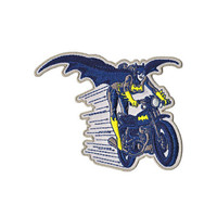 Batgirl On Motorcycle Iron-On Patch