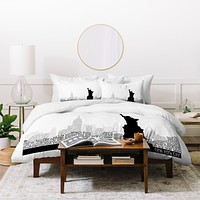 Restudio Designs New York Skyline 5 Duvet Cover