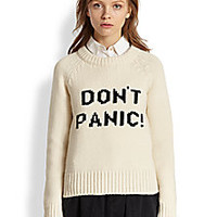 Marc by Marc Jacobs - 'Don't Panic!' Wool Sweater - Saks Fifth Avenue Mobile