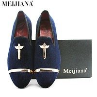 Luxury man shoes casual genuine gold men cross velvet men