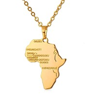 Africa Necklace Pendant with Chain