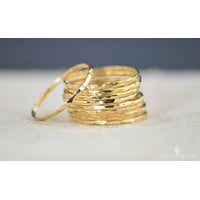 Super Thin 14k Gold Stackable Ring