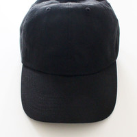 Plain Baseball Cap - Black