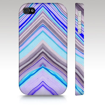 iPhone 4s case, iPhone 5 case, Zigzag colorful watercolor painting pattern design, geometric abstract, art for your phone