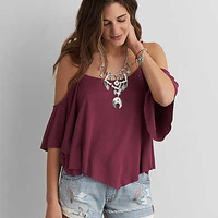 AEO SOFT & SEXY COLD SHOULDER SWING TOP