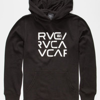 Rvca Stacked Boys Hoodie Black  In Sizes