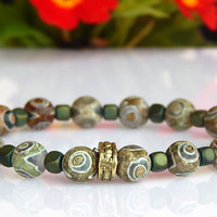 Men's Jasper Bracelet, Men's Green Gemstone Bracelet, Men's Gemstone Bracelet, Gift for Him
