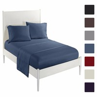 Bedding Set Double Bed Linen 2 Pillowcases + 1 Sheets cCases + 1 Bed Cover