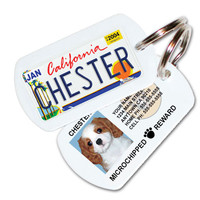 California License Plate Pet ID Tag Dog ID Tag - Free Shipping - PL8S 4 PETS by 1cutepooch