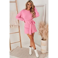 Special Treatment Sweater Dress (Pink)