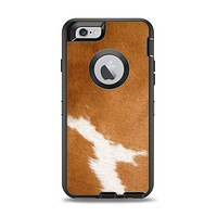 The Real Brown Cow Coat Texture Apple iPhone 6 Otterbox Defender Case Skin Set