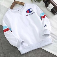 Champion Girls Boys Children Baby Toddler Kids Child Fashion Casual Top Sweater Pullover