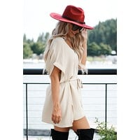 Hollywood Glamour Blouse (Light Taupe)