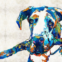 Great Dane Art - Stick With Me - By Sharon Cummings