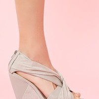 Twisted Platform Wedge  in  Shoes at Nasty Gal