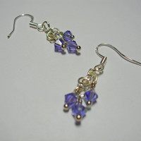 Simply Swarovski Earrings (lavender)