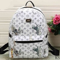 DCCKFN LV Fashion Leather Daypack Travel Bag School Bag Bookbag Backpack I-MYJSY-BB Tagre-