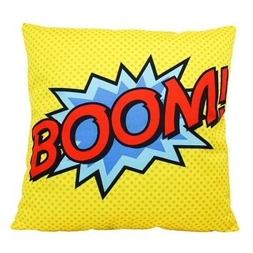 BOOM | Anime | Fun Gifts | Pillow Cover | Home Decor | Superhero | Happy Birthday | Kids Room | Red Throw PIllow | Kids Decor | Room Decor