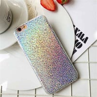 Bling Glitter Case for iPhone 7 7Plus Slim Soft PU Shiny Stone Texture Pattern Fundas for iphone 6 6s 6Plus 6sPlus -0325