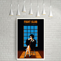 Fight Club, Marla Singer, Helena Bonham Carter, Minimal Movie Poster.