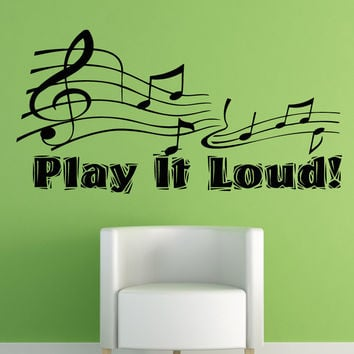 Vinyl Wall Decal Sticker Play it Loud #OS_AA1277