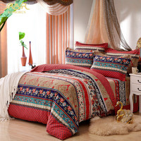 ROMORUS 100% Cotton Bohemia Stripe Bedding Set for Autumn and Winter Twin Queen King Size Bed Linen Bedclothes Duvet Cover Sets