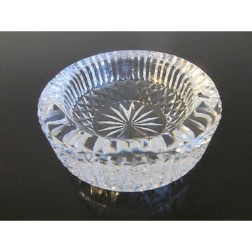 Waterford Ireland Crystal Ashtray Bowl Star Cut Marked